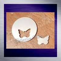 Disc with butterfly cut out