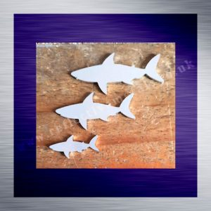 Aluminium Laser Cut Shark