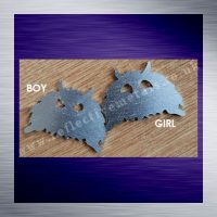 Monster shaped metal stamping blank laser cut from 1.5mm aluminium
