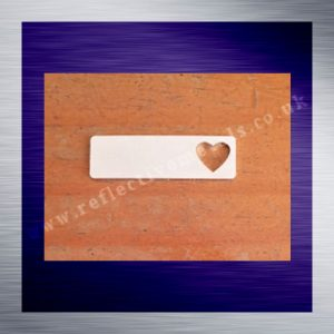 Rectangle with heart cut out