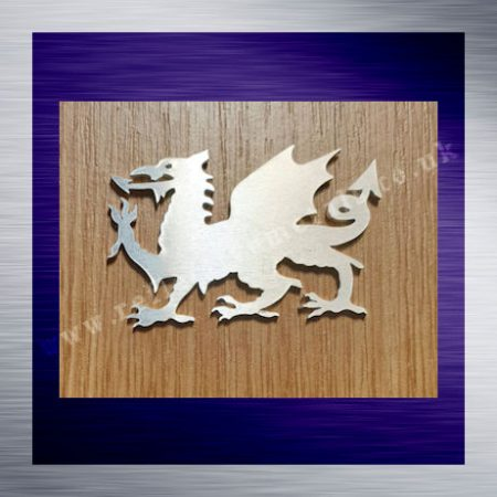 A Welsh Dragon laser cut from 1.5mm aluminium