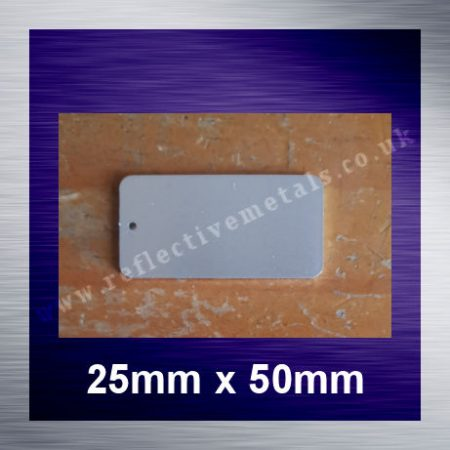 25mm x 50mm Rectangle with a hole